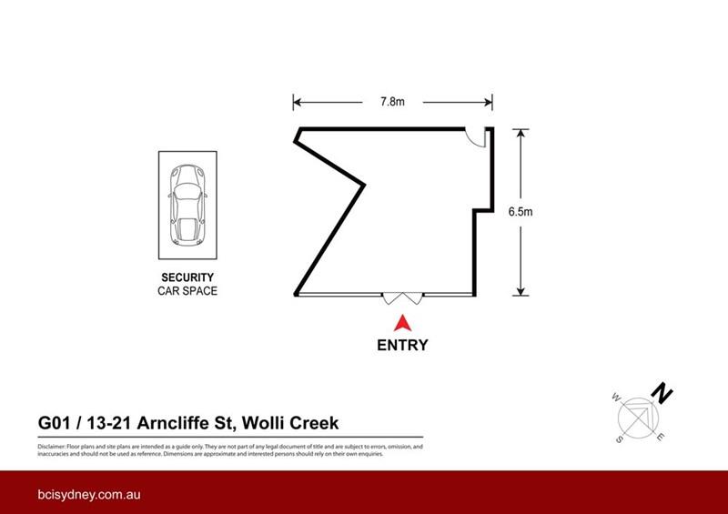 Arncliffe st WOLLI CREEK NSW 2205