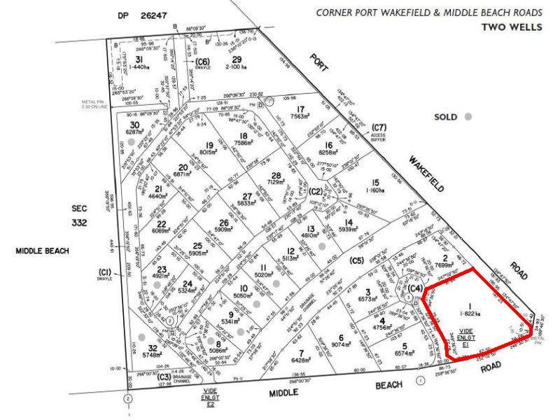 Lot 1 Middle Beach Road (Corner of Port Wakefield Road) TWO WELLS SA 5501