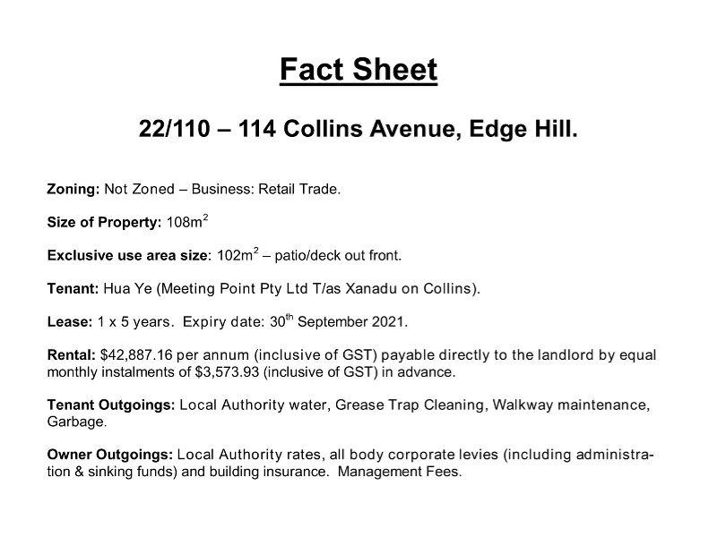22/110-114 Collins Avenue EDGE HILL QLD 4870