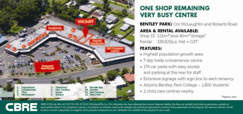 Cnr McLaughlin & Roberts Road BENTLEY PARK QLD 4869