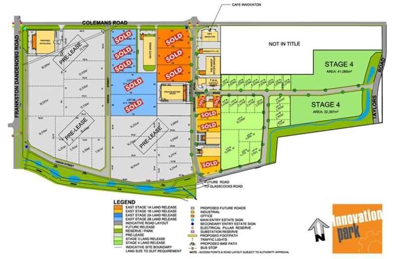 Innovation Park Cnr Frankston Dandenong Rd & Colemans Rd DANDENONG VIC 3175